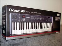 M-AUDIO OXYGEN 49 KEYBOARD/CONTROLLER (PC or MAC)