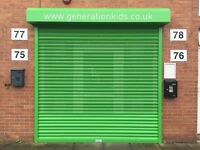 Electrically Operated Steel Roller Shutter 2.66m x 2.6m - Powder Coated Green