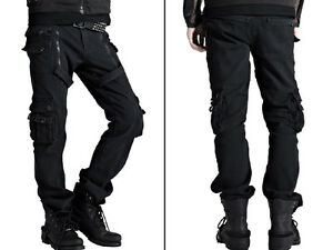 pantalon jeans homme baggy treillis goth gothique punk With pantalon à carreaux homme