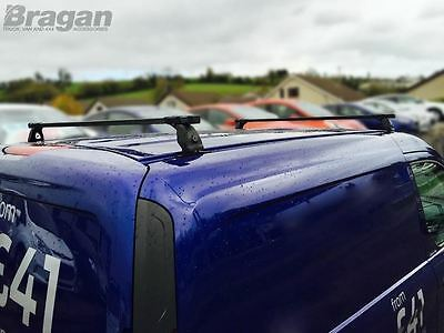 To Fit 07 - 16 Peugeot Expert Tepee PVC Metal Black Roof Rack Bars 2 Bar System