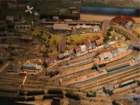 N Gauge model railway track layout