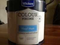 Wicks masters colour @ home vinyl Matt paint for interior walls and ceilings