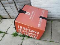 Used pizza box