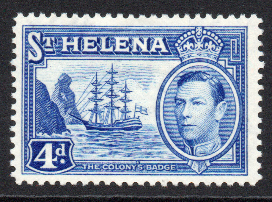 St. Helena 4d 1938-44 Mounted Mint Stamp (4736)