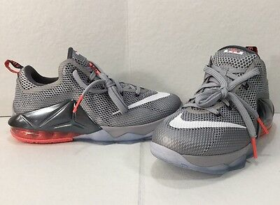 best sneakers a3499 2a77f Nike 744547-014 Youth Lebron James X11 Low Wolf Gray Hot Lava SZ US 6Y