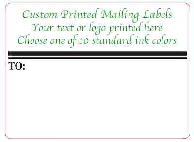 Custom Shipping Labels 1000 Printed 4x3 Business Mailing Stickers 1-ink Color