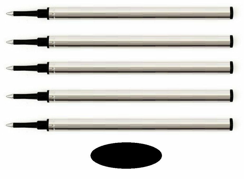 5 – Rollerball Refills for VISCONTI Pen – BLACK FINE POINT – Made In Germany Collectibles