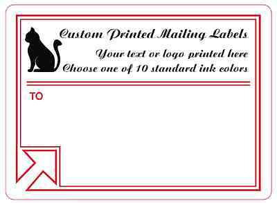 Printed Mailing Labels 1000 Custom 4x3 Business Shipping Stickers 1-ink Color