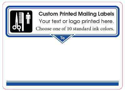 Printed Mailing Labels 1000 Custom 4 X 3 Shipping Box Stickers 1-ink Color