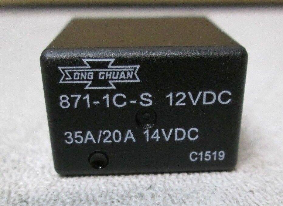Song Chuan General Purpose Relays SPNO For 4pcs 871-1A-S-R1-12VDC