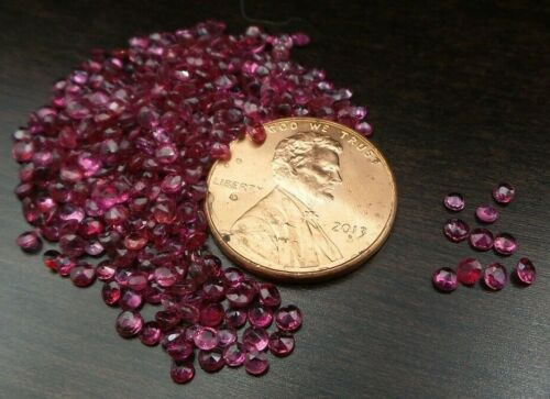 Wholesale Lot of 10 Round Cut Natural Ruby Loose Calibrated Gemstones - 2mm