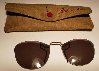 CLIP ON  SPECTACLE SHADES POLAROID SPECTACLE SHADES VINTAGE