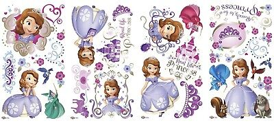 DISNEY SOFIA the FIRST 37 Wall Decals Princess Sophia 1st Room Decor Stickers - Sophia The First Decorations