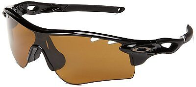 NEW OAKLEY RADAR LOCK OO9181-25 POLISHED BLACK W/ BRONZE POLARIZED LENS