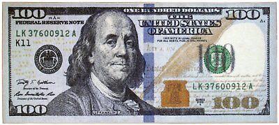 New 100 billebay 1 100 dollar bill new print benjamin franklin novelty area runner rug 22 voltagebd Choice Image