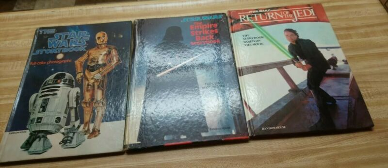 VINTAGE LOT OF 3 STAR WARS, THE EMPIRE STRIKES BACK & RETURN OF THE JEDI HC BOOK
