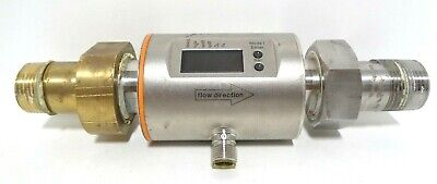 Ifm Electronic Gmbh Sm8004 Magnetic Flowmeter With Brass And Ss End Fitting