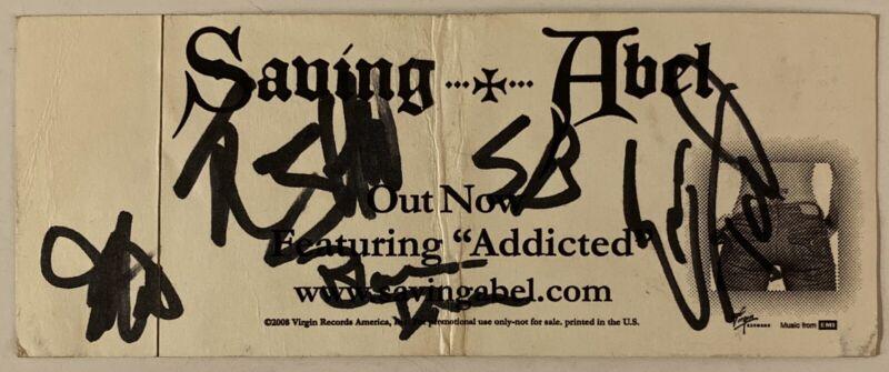 Saving Abel Signed Sticker Full Band Jared Weeks (Original Singer)