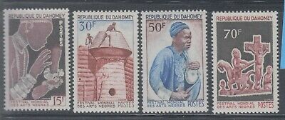 Dahomey 1966 Negro Arts  Sc 215-218 Sound mint lightly  hinged