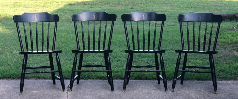 S. BENT & BROS. ~ University of Virginia Windsor Colonial Maple Dining 4 Chairs