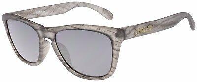 Oakley Frogskins Sunglasses OO9245-5554 Matte Clear Woodgrain|Black Iridium Lens