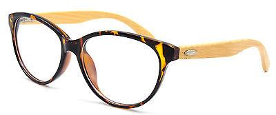 Vintage Womens Cat Eye Wooden Eyeglass Frames Keyhole Eyewear Spectacles Retro