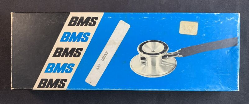 Vintage Double Head Blue Stethoscope by Buffalo Medical Specialties Mfg.