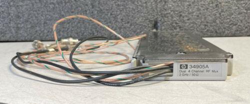 Agilent HP Keysight 34905A 50-Ohm Module, 2 GHz Dual 1:4 RF Mux