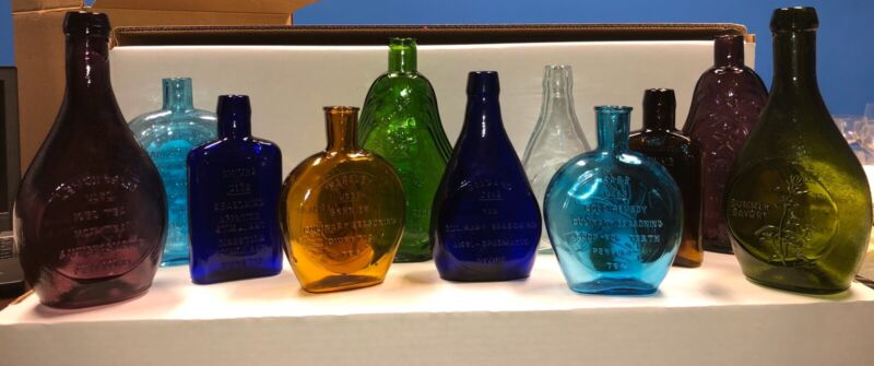 Clevenger Bros Embossed Herb Of The Month Bottle Collection - Scarce & Vintage