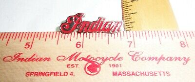 vintage Indian pin old biker vest pinback collectible USA motorcycle memorabilia