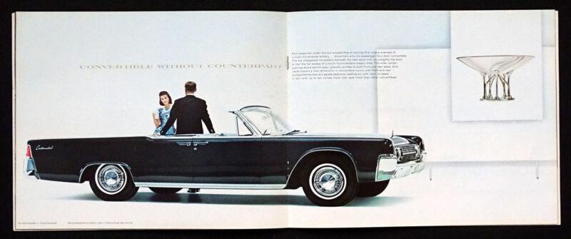 1963 LINCOLN CONTINENTAL Vintage DEALER SALES BROCHURE Suicide Door Convertible