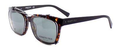 Kenneth Cole NY KC0256 52A Men's Eyeglasses w/ Clip-ons Dark Havana / Smoke