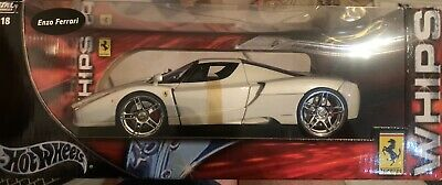Rare Hot Wheels 1:18 Enzo Ferrari Bianco Metallico-Unopened