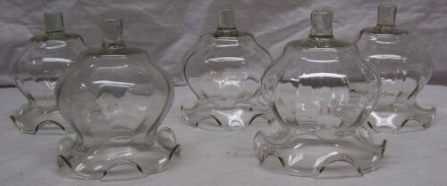 HOME INTERIORS / HOMCO VOTIVE CUPS - 5 CLEAR FLUTED VOTIVE CUPS - HARD TO FIND