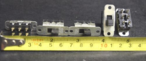 5 PCS SWITCHCRAFT Model 11A-1534 DPDT Slide Switches