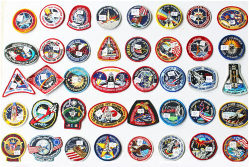 Lot of 40 NASA STS Shuttle Mission Astronaut Space Patches -LOT-40A