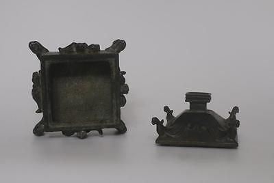 LARGE VERY RARE CHINESE COPPER INCENSE BURNER WITH QIANLONG MAKR (082)