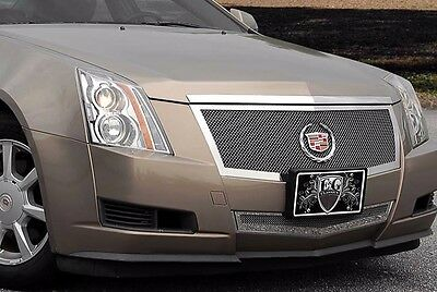 2012-2013 Cadillac CTS 2pc Fine Mesh Grille - Black Ice - E&G 1007-B102-12MS
