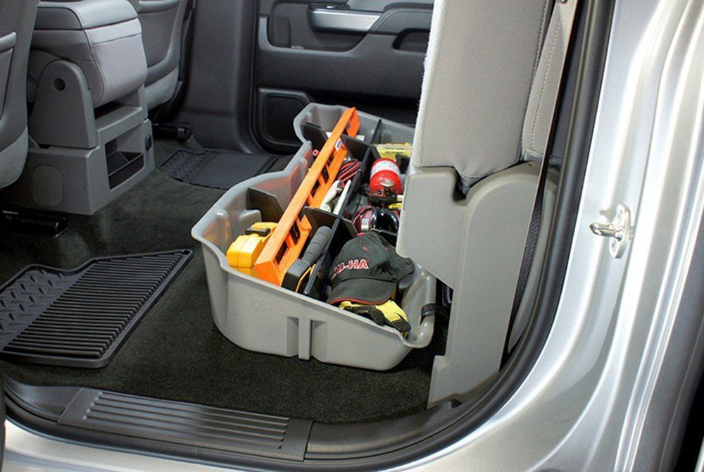 DU-HA For Silverado Sierra 15-19 LD HD Crew Cab Ash//Gray 10301 Underseat Storage