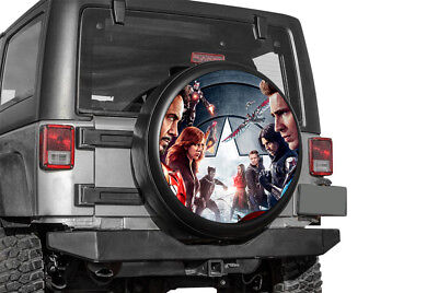 Captain America Sticker Full Color Spare Tire Cover Decal Wheel Cover Skin BB66