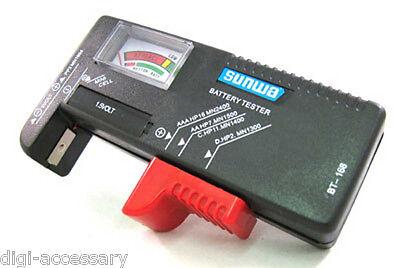 AA/AAA/C/D/9V Universal Button Cell Battery Volt Tester Checker 9V