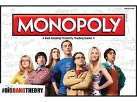 MONOPOLY THE BIG BANG THEORY EDITION SEALED BRAND NEW UNOPENED.