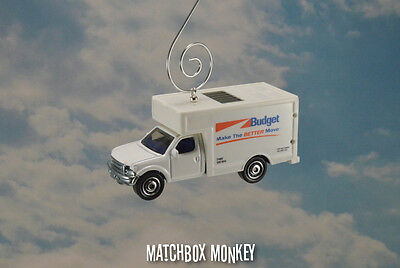 Budget Rental Moving Truck Custom Christmas Ornament 1/64 Delivery Box Movers - Custome Rentals