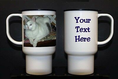Personalized 15 oz Poly Travel Mug- your photo and/or text (new) - Personalized Photo Travel Mugs