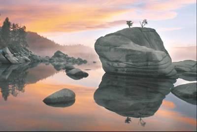 Elizabeth Carmel Sunset, Bonsai Rock Kunstdruck - Bonsai Rock