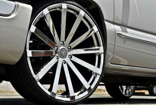"Velocity V12 26"" Wheels Rims&tires Fit Chevy Cadillac Gmc Ford Lincoln Escalade"