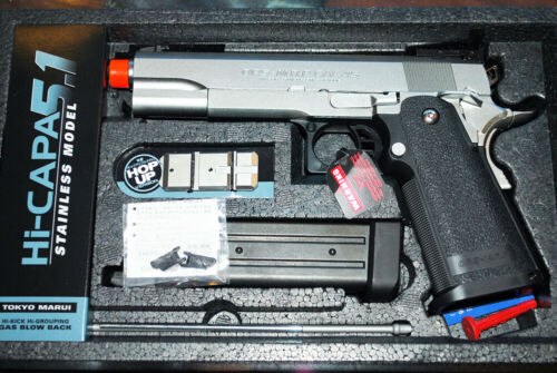 Tokyo Marui Hi-Capa 5.1 Airsoft GBB Pistol (stainless silver)- NEW