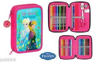 Frozen kit Pencil case double Nordic Summer frozen 34 parts 215515