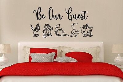 Inspired by Beauty and the Beast Wall Decal Sticker Be Our - Beauty And The Beast Be Our Guest