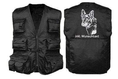 MIL-TEC HUNDESPORT WESTE Outdoor-Weste mit Dummytasche: Deutscher Schäferhund